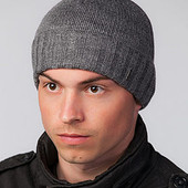 Мужская вязаная шапочка с отворотом Oscar 2 - 5 цветов