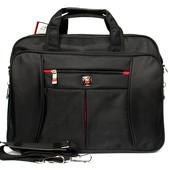 Мужская тканевая сумка - портфель под ноутбук и документы (52008)