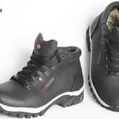 Зимние кожаные мужские ботинки - К 5 бел.