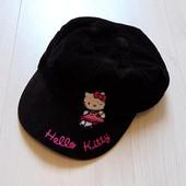 Стильная велюровая кепка с Китти для девочки. George. Размер 8-12 лет, на объем головы до 56 см.
