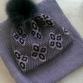 Комплект шапочка и снуд (под заказ)