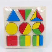 Деревянная рамка Геометрика 0370 дерево геометрические фигуры дроби