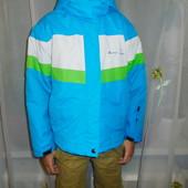 Яркая термо куртка на мальчика 9-10 лет