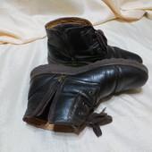 Ботинки на широкую ногу кожа