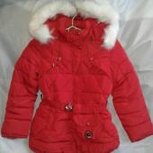 Куртка детская зимняя для девочки 5-9 лет