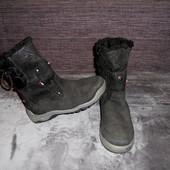 Ботинки зимние Kangaroos,замша-текстиль,35 р.