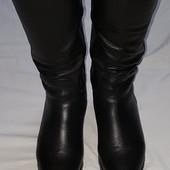 Зимние сапоги кожаные на натуральной цегейке 37-38 разм.