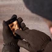 мужские перчатки от тсм Tchibo размер 9,5 из микрофибры , в них можно пользоваться сенсорым экраном