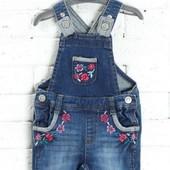 Распродажа - Комбинезон джинсовый для девочки на 68 см. от Mothercare