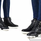 Ботинки женские на искусственном меху Модель № : W3353
