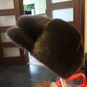 Шапка мужская, норка, темно коричневого цвета. На объем головы 56-57 см.