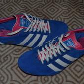 Adidas оригинал! новые кроссовки 24 см стелька замша Англия