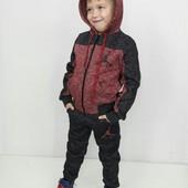 Теплый спортивный костюм для мальчика и девочки 134 см, последний размер по цене закупки!