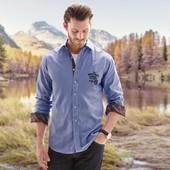 Качественная мужская рубашка  от ТСм(германия) ,  ворот 43-44 размер л-хл