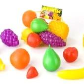 Игрушечные детские фрукты (крупные и большие) 8 шт