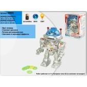 Робот на батарейках, движение, свет, дископлюй, 24 см