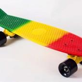 Пенни борд, Penny board, скейт, скейтборд Радуга