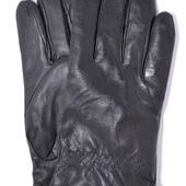 Мужские кожаные перчатки на черном меху.