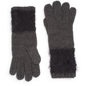 Calvin Klein оригинал длинные перчатки серые с черным бренд из США