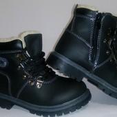 Стильные зимние ботинки на молнии и шнуровке 17.5-20см