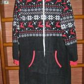Пижама флисовая, мужская, размер M/L, рост до 170 см