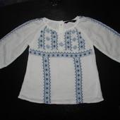 прикольная блуза George 1,5-2 года состояние новой
