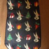 546 Новогодний галстук с кроликом Looney Tunes