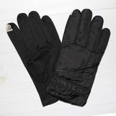 Мужские болоньевые перчатки с противоскользящей ладошкой.