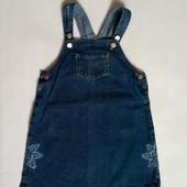 сарафан джинсовый Denim для девочки 3-4 года