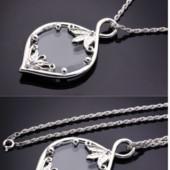 Ожерелье с увеличительным стеклом для чтения с Родиевым Покрытием.