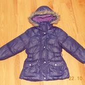 Зимняя куртка-пуховик Glamour Kids для девочки 6-7 лет, 116-122 см
