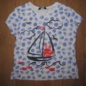 Фирменная футболка George девочке 3-4 года