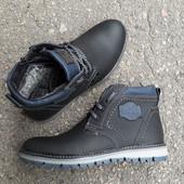 Зимние ботинки из натур кожи AvA77ф, размеры 40 и 41