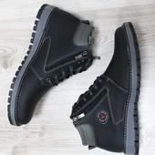 Качественные зимние ботинки Ecco 109 чёрные