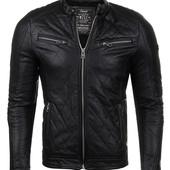 Еко-кожаная куртка мужская