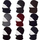 Теплая мужская шапка с хомутом