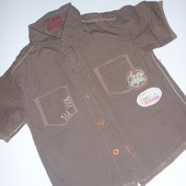 модненькая рубашка на 1-2 года