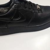Кожаные зимние кроссовки ботинки Nike Air Force 36- 40 p.