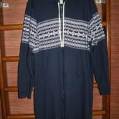 Пижама хлопковая с начесом, размер L, рост до 180 см