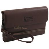 Новый коричневый мужской клатч. Мужское портмоне. Барсетка. Мужская сумка. Чоловічий клатч. Кошелек