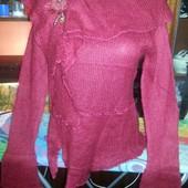 Новые молодёжные мохеровые свитера с брошью
