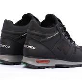 Зимние мужские ботинки New Balance на меху ( черные )