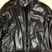 Мужская куртка из кожзама, б/у, размер L