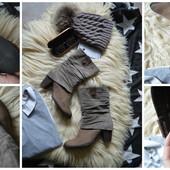 Стильные ботинки из комбинированной кожи,р-р 39