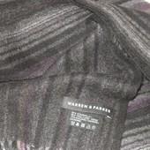 тёплый шарфик 90% шерсть+ 10% кашемир Warren&Parker