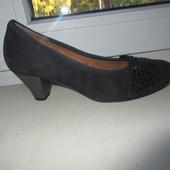Замшевые туфли Gabor 37 р.