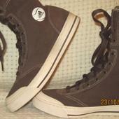 Сапоги-кеды Adidas оригинал замшевые коричневые 38р демисезон