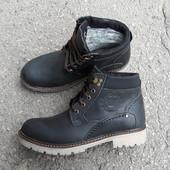 Зимние ботинки Sart 322 чёрная матовая кожа размер 45