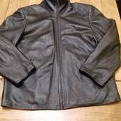 Мужской кожаный пиджак размер ХЛ состояние  хорошее замеры: плечи 53 см пог 62 см талия 61см длина 6