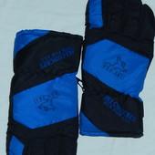 Мужские дутые лыжные перчатки ,р-р L,на крупную руку,теплющие,сток